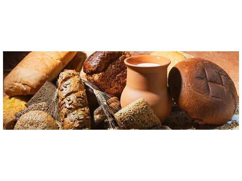 Panoramic Canvas Print Breakfast Breads