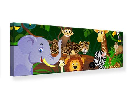 Panoramic Canvas Print Jungle King