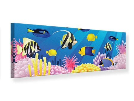 Panoramic Canvas Print Children`s Underwater World