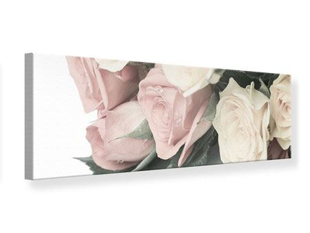 Panoramic Canvas Print Romantic Rose