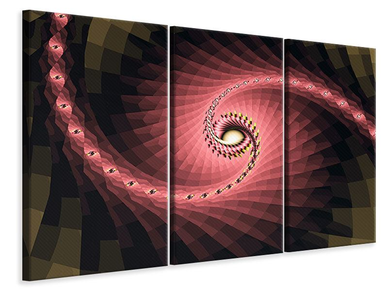 3 Piece Canvas Print Abstract Windings
