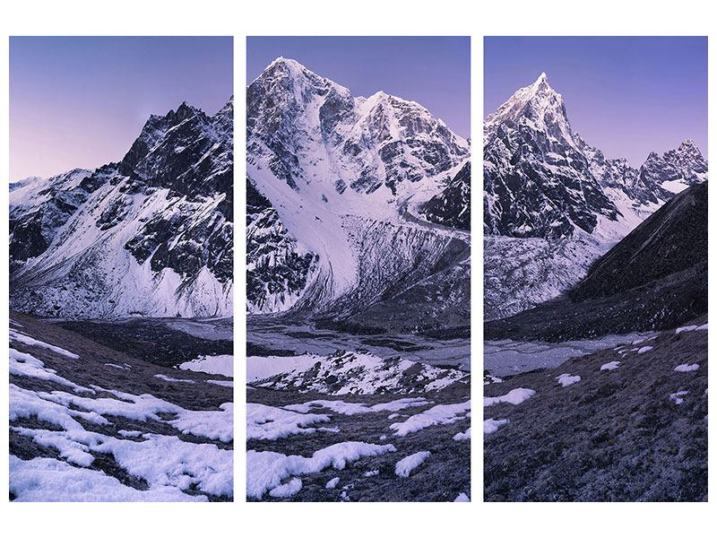 3 Piece Canvas Print Taboche And Cholatse