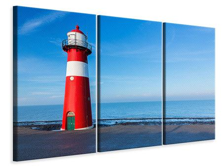 3 Piece Canvas Print Summer At The Lighthouse