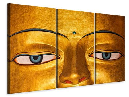 3 Piece Canvas Print The Eyes Of Buddha