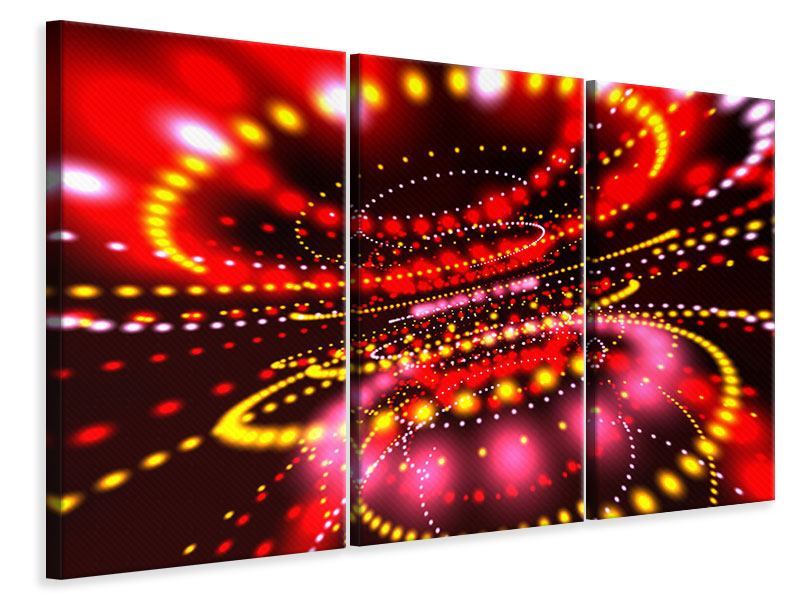 3 Piece Canvas Print Abstract Light Game