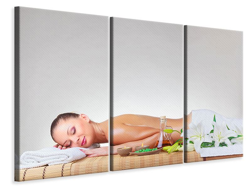 3 Piece Canvas Print Spa