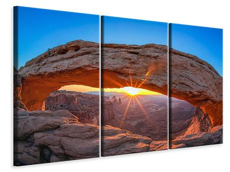 3 Piece Canvas Print Sunset At Mesa Arch