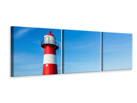 Panoramic 3 Piece Canvas Print Summer At The Lighthouse