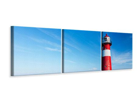 Panoramic 3 Piece Canvas Print The Lighthouse