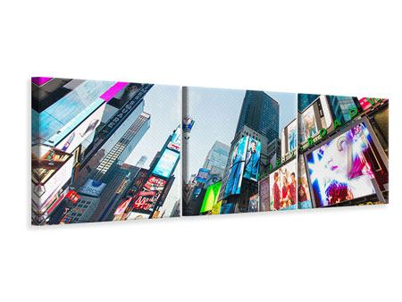 Stampa su tela 3 pezzi Panoramica Shopping a New York