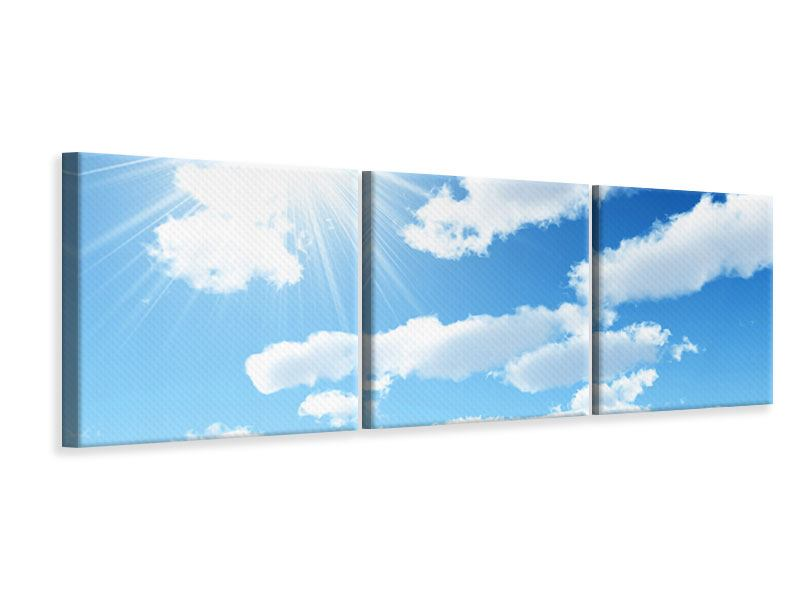 Panoramic 3 Piece Canvas Print In The Sky
