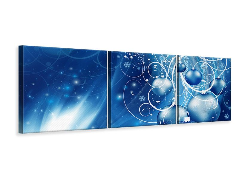 Panoramic 3 Piece Canvas Print Shingle Bells