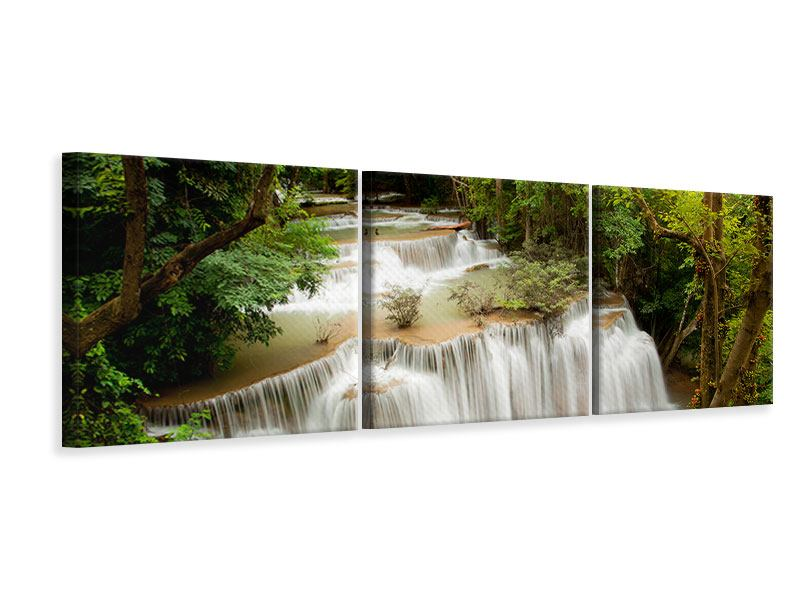 Panoramic 3 Piece Canvas Print In Treehouse