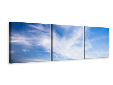 Panoramic 3 Piece Canvas Print Cirrostratus Clouds