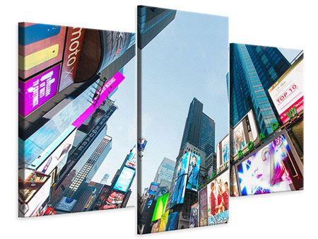 Stampa su tela 3 pezzi moderno Shopping a New York