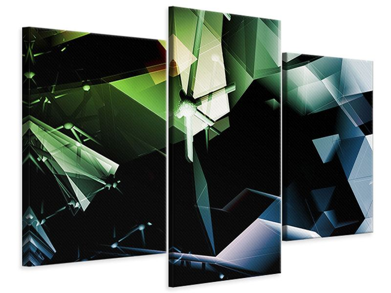 Modern 3 Piece Canvas Print 3D Polygon