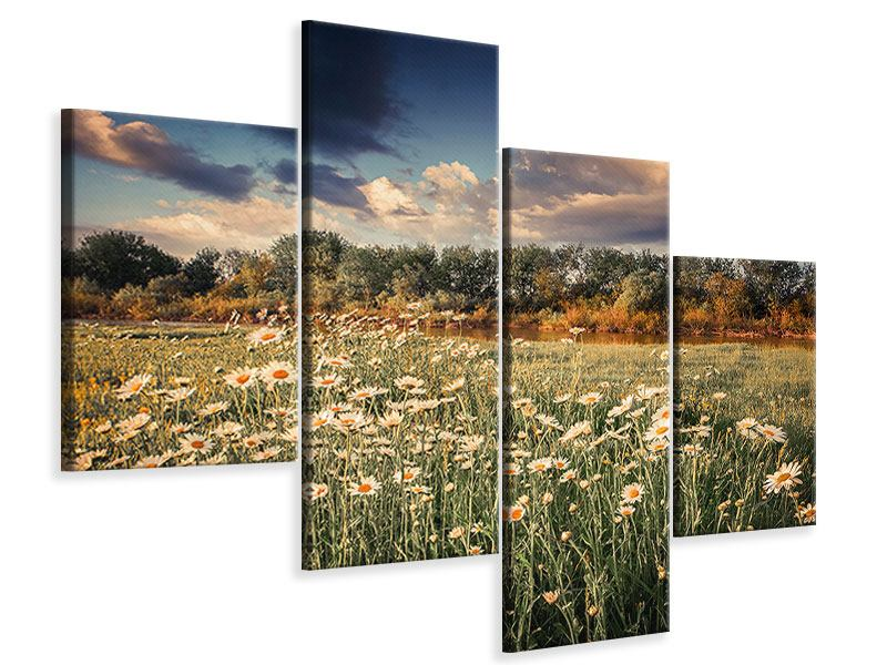 Modern 4 Piece Canvas Print The Ox On The River