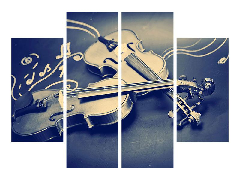 4 Piece Canvas Print Violins