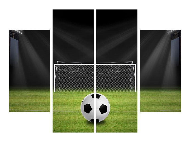 4 Piece Canvas Print Soccer-Goal