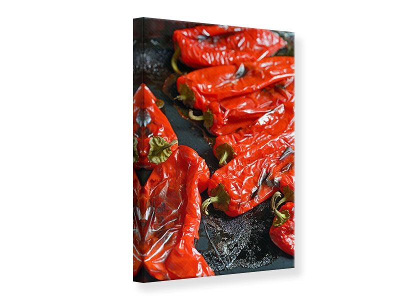 Canvas Print Grilled Peppers