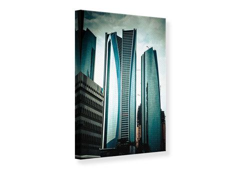 Canvas Print Luxury Skyscraper In Abu Dhabi