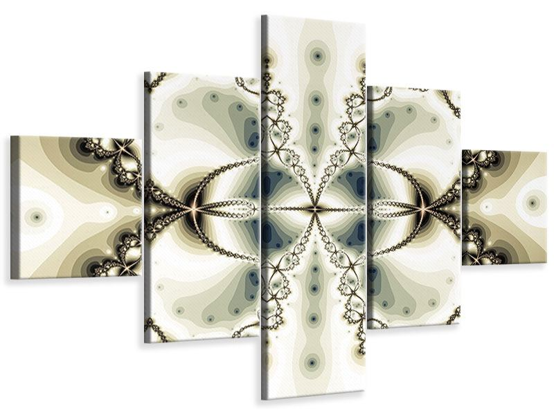 5 Piece Canvas Print Abstract Butterfly