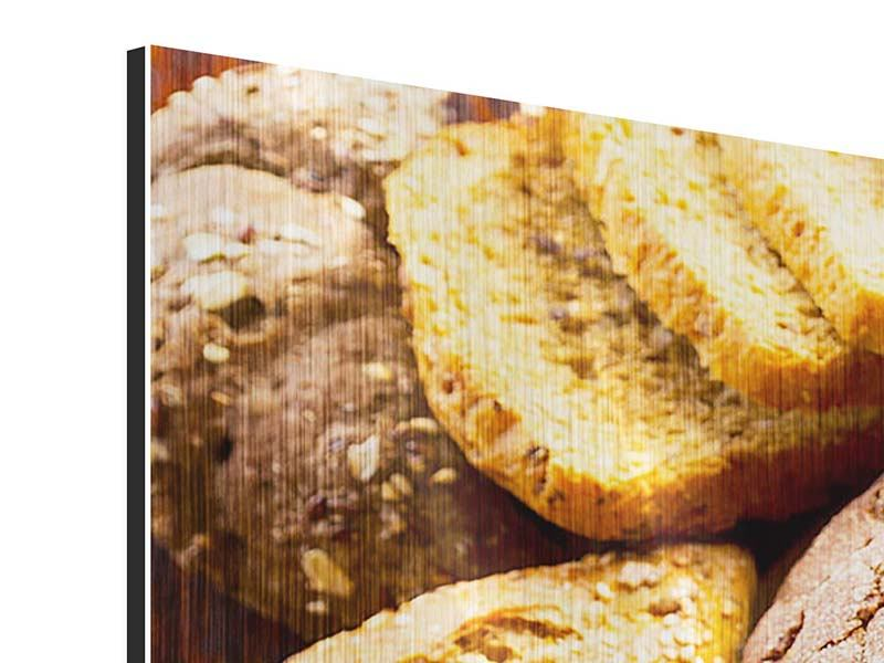 Panoramic Metallic Print Bread Assortment