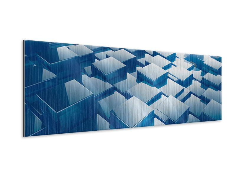 Panoramic Metallic Print 3D-Cubes