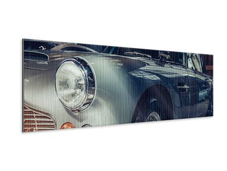 Panoramic Metallic Print Classic Car