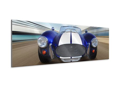 Panoramic Metallic Print Racing Car