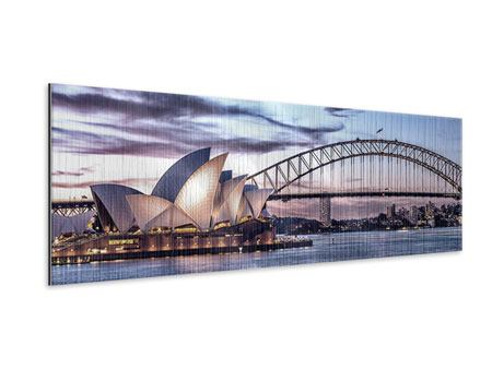 Panoramic Metallic Print Skyline Sydney Opera House