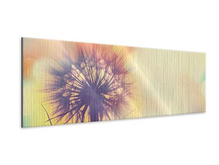 Panoramic Metallic Print The Dandelion In The Light