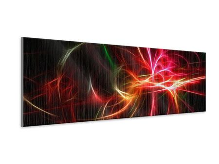 Panoramic Metallic Print Fraktally Light Spectacle