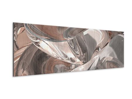 Panoramic Metallic Print Abstract Glass Tiles