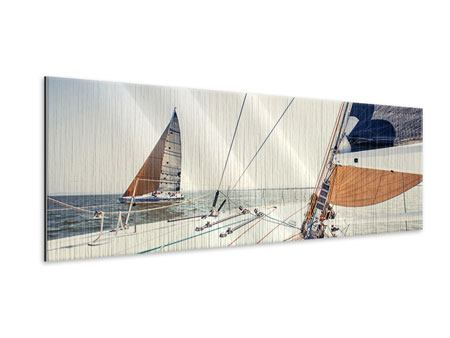 Panoramic Metallic Print Yacht