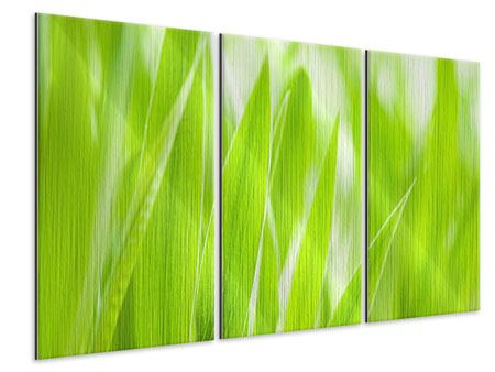 3 Piece Metallic Print Grass XXL