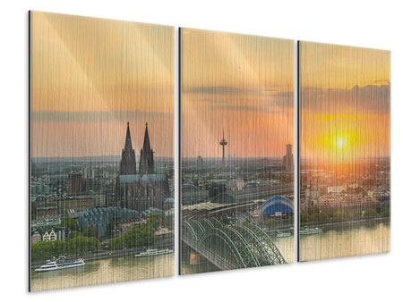 3 Piece Metallic Print Skyline Cologne At Sunset