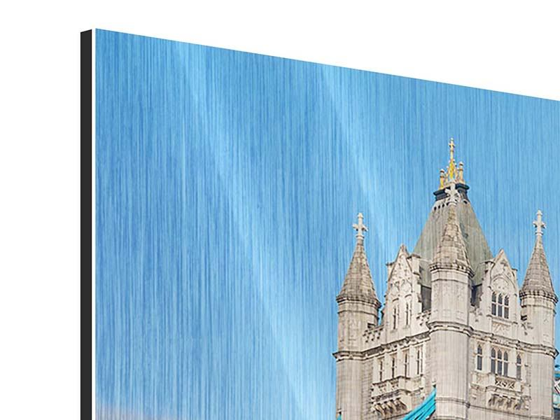 3 Piece Metallic Print Tower Bridge