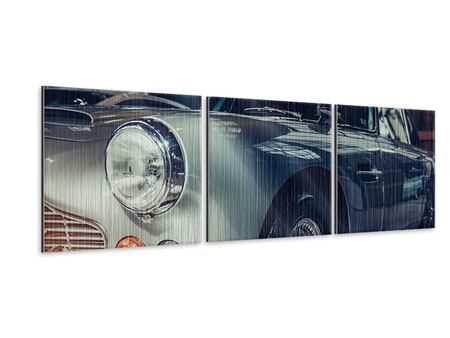 Panoramic 3 Piece Metallic Print Classic Car