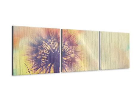 Panoramic 3 Piece Metallic Print The Dandelion In The Light