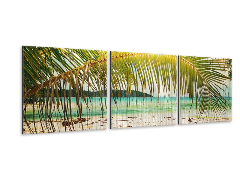 Panoramic 3 Piece Metallic Print Swing Out Of The Hammock.