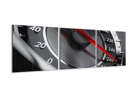 Panoramic 3 Piece Metallic Print Speed