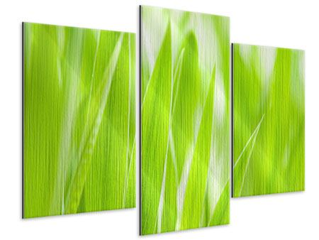 Modern 3 Piece Metallic Print Grass XXL