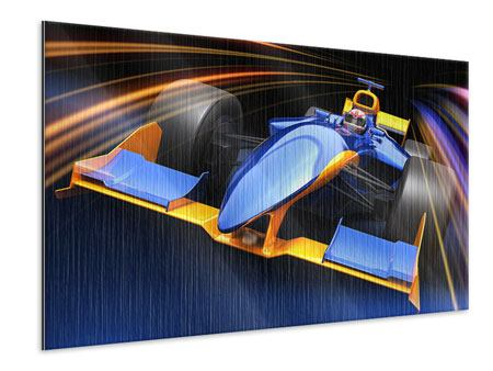 Metallic Print Auto Racing