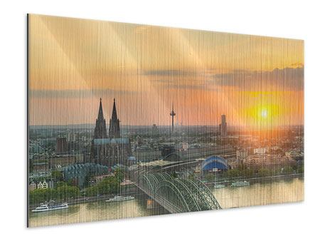 Metallic Print Skyline Cologne At Sunset