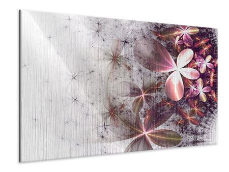 Metallic Print Abstract Floral