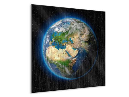 Metallic Print The Earth As A Planet