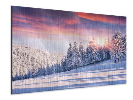 Metallic Print Winter Landscape
