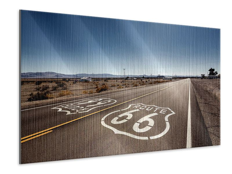 Metallic Print Route 66
