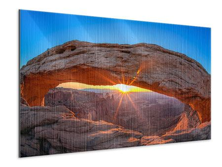 Metallic Print Sunset At Mesa Arch